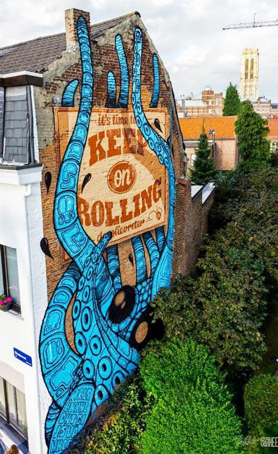 Gijs Vanhee, Mr Leenknecht, imaginative street art, graffiti art, street artists, urban murals, urban art, mr pilgrim art.