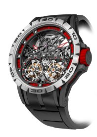 Excalibur Spider Skeleton Double Flying Tourbillon