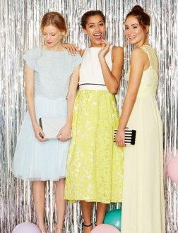 05-coast-prom-perfect-proms-2015-girls-standing-light-blue-dress-white-top-yellow-skirt-light-yellow-dress