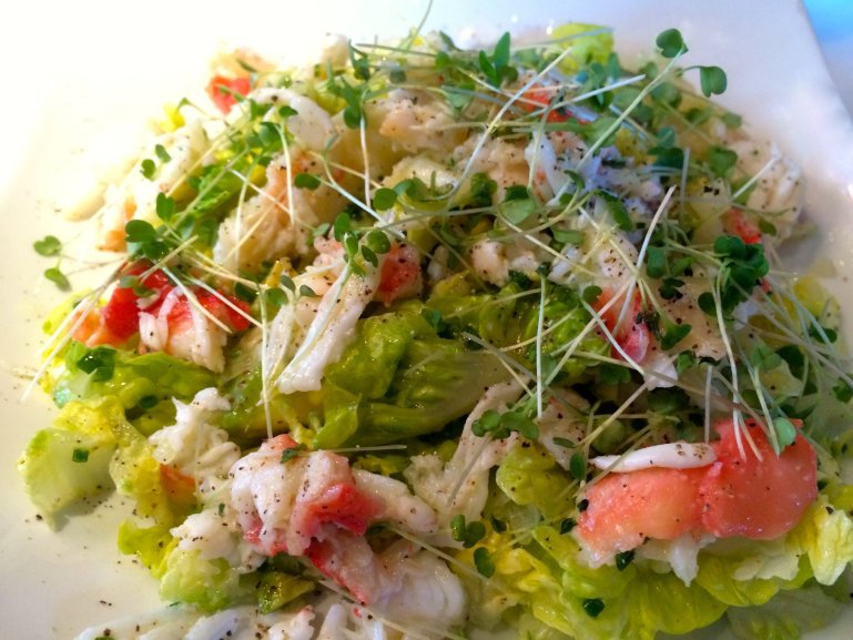 Sass king crab salad
