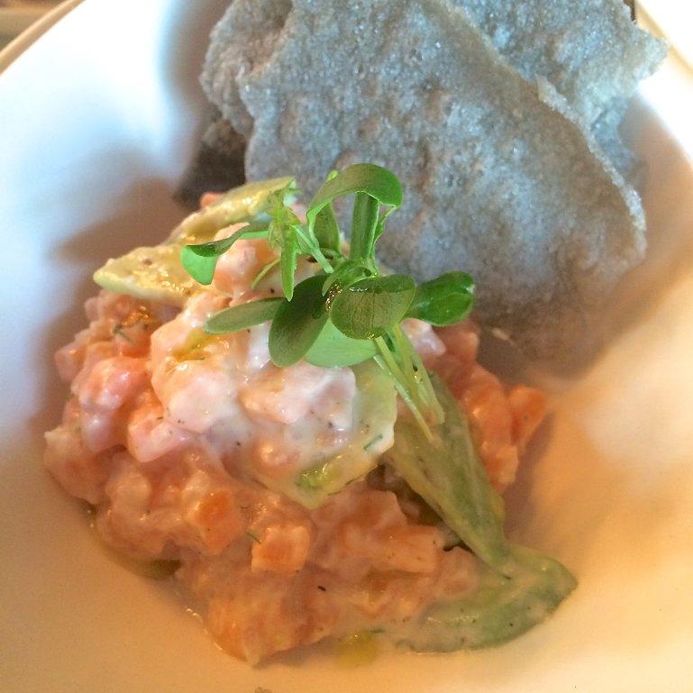 Sass salmon tartare