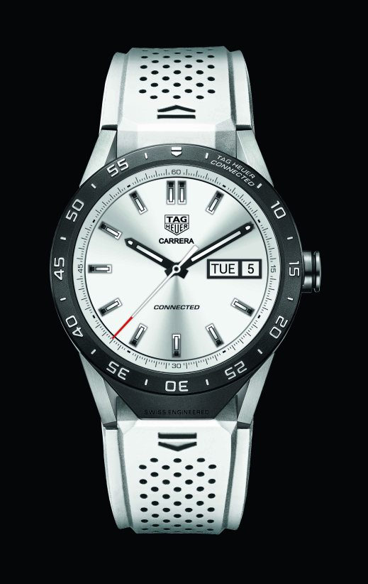 SAR8A80.FT6056 2015 - WHITE STRAP, BLACK BACKGROUND - DIAL ON