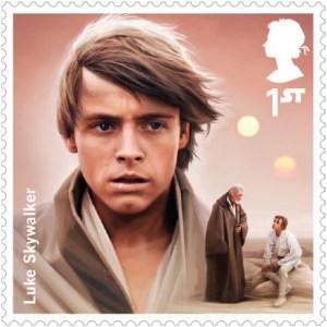 Luke Skywalker Royal Mail Stamp