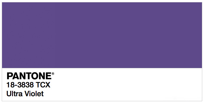 2018 colour of the year – Ultra Violet