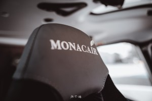 Image of the headrest from a Monacair helicopter seat