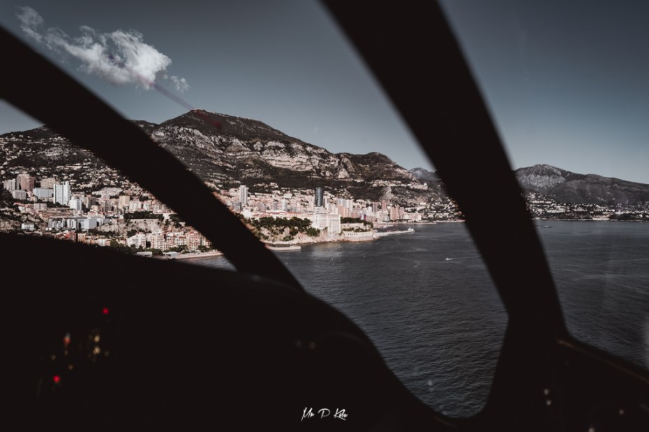 Image of the view of Monaco from a Monacair helicopter