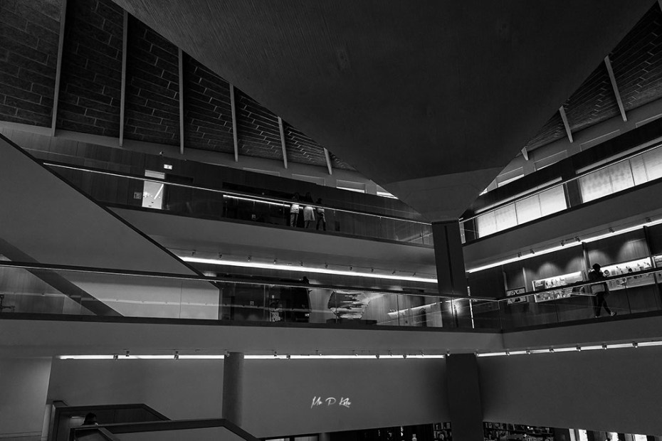 Black and white image of the Design Museum roof