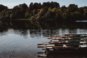Image of boats in the lake at Blenheim Palace
