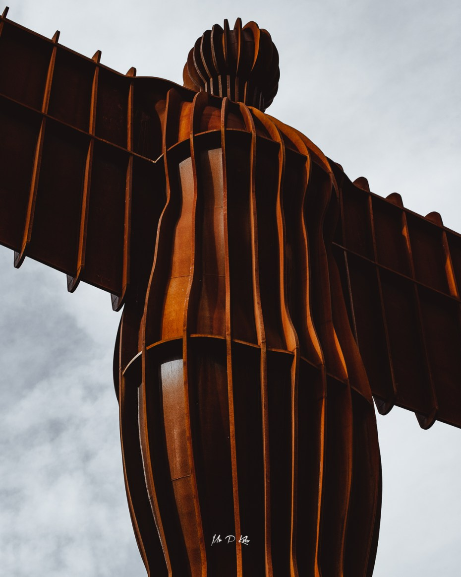 The Angel of the North sculpture front view