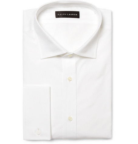 Ralph Lauren Black Label Double Cuff Cotton Shirt