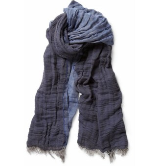 Hartford Double-Sided Linen and Cotton-Blend Scarf £50