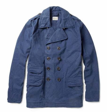 Hartford Double-Breasted Washed Cotton-Twill Jacket
