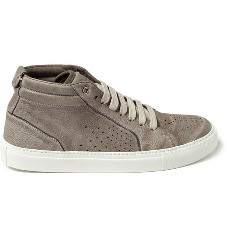 Yves Saint Laurent Leather Mid Top Sneakers