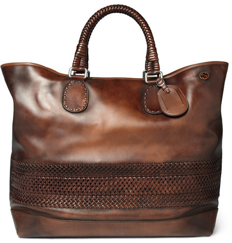 GucciWoven Leather Holdall