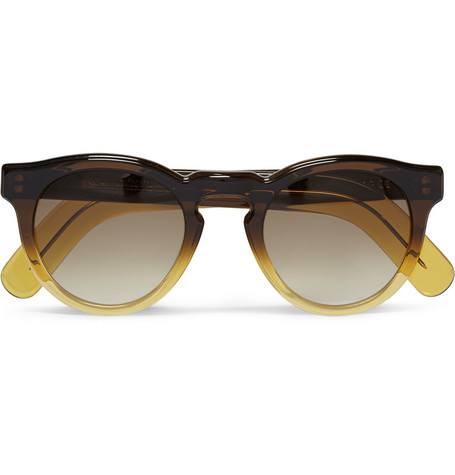 Cutler and GrossRound-Frame Ombre Acetate Sunglasses