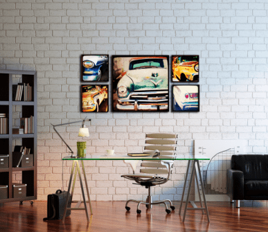 Wall decoration with paintings