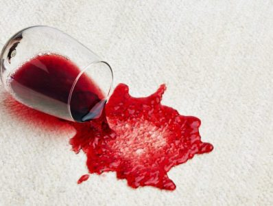 How to clean red wine spill