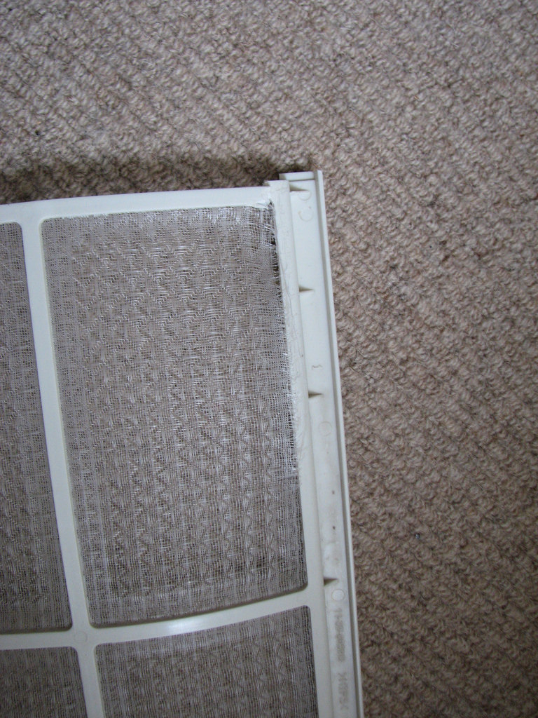 clogged AC filter