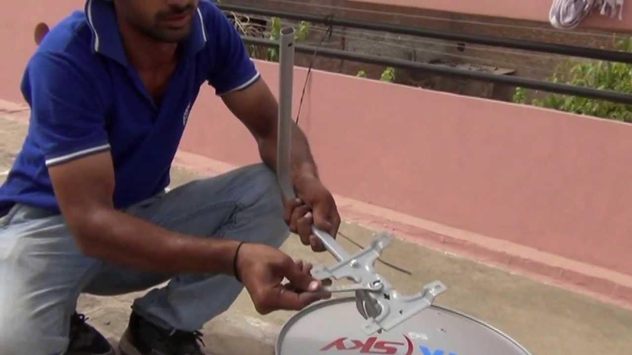 adjusting dish tv antenna