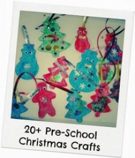 Pre-school christmas crafts