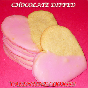 Chocolate Dipped Valentines Cookies by We-Made-That.com