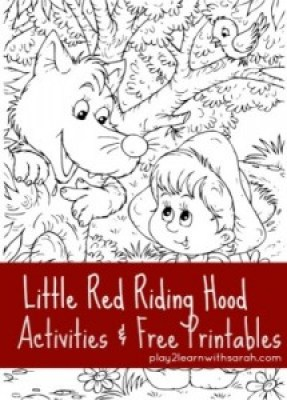 Little-Red-Riding-Hood-#activities #free #printables via @play2learnsarah #homeschool #homeschoollinkup