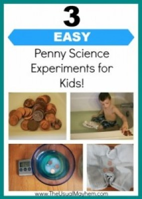 easy penny #scienceeperiments for kids #STEM