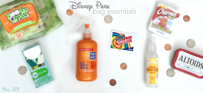 Disney Park Bag Essentials