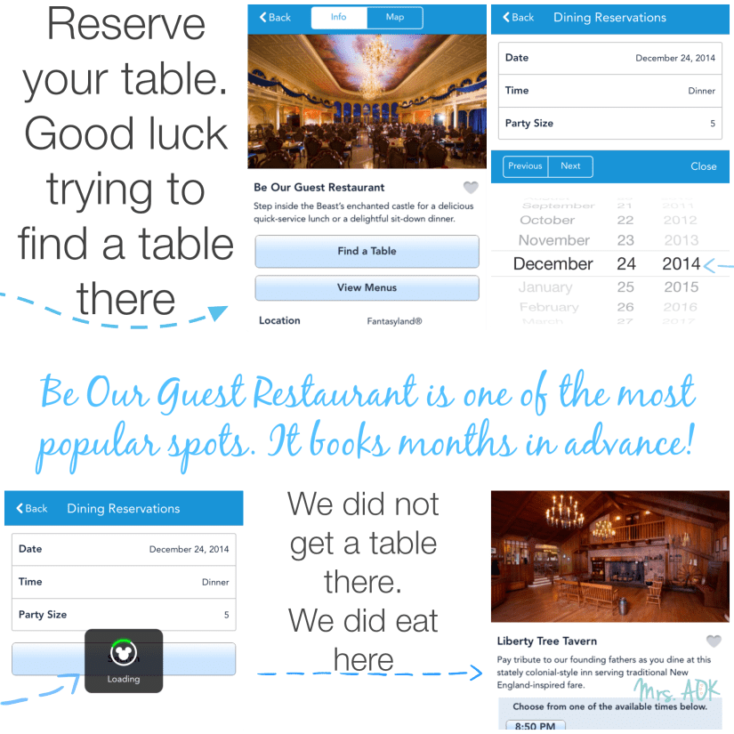Using FastPass+ for Dinning Reservations