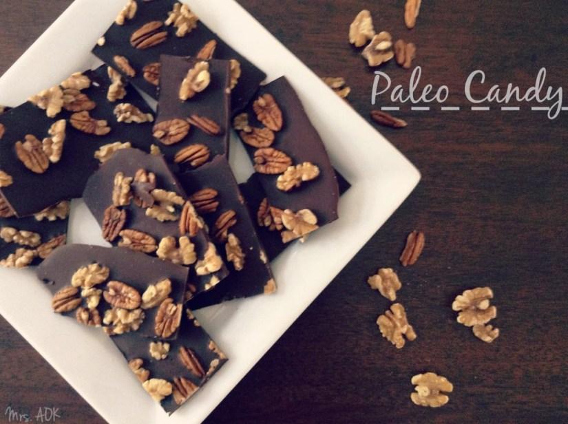 Paleo Candy Bacon Infused Dark Chocolate & Nut Bar