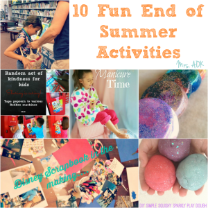 10 Fun End Of Summer Activities
