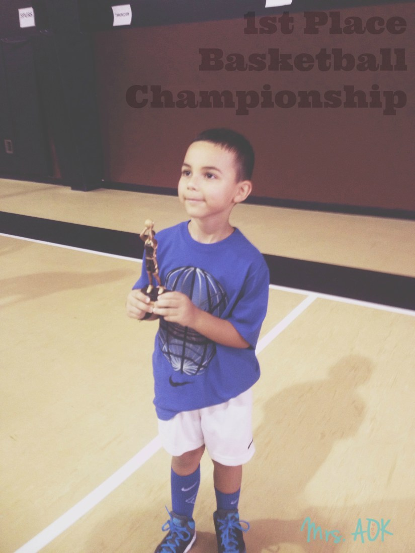 Our little Championship Winner {basketball}