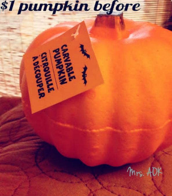 $1 Pumpkin BEFORE