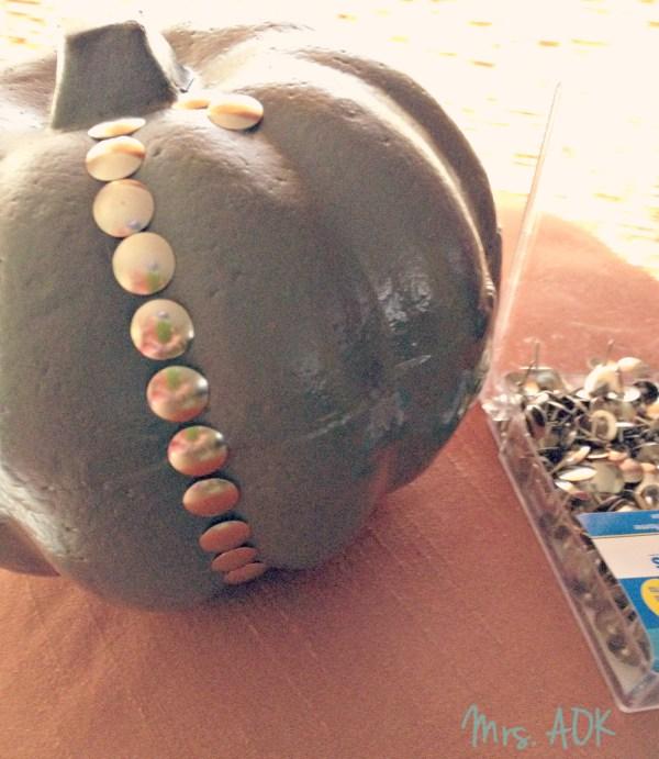 Tacking up pumpkin