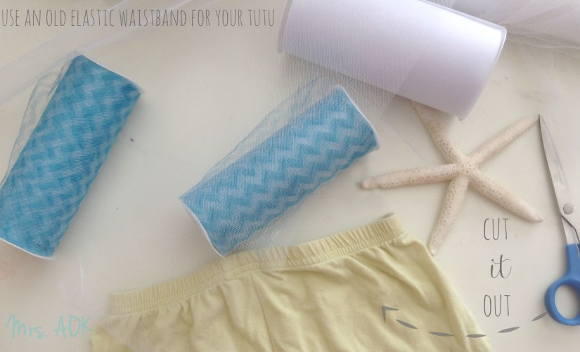 Use an old waistband for your tutu
