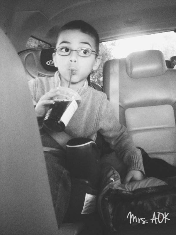My Boy| Weekend Backseat warrior :) |Mrs. AOK, A Work In Progress
