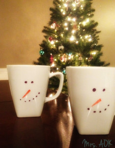 Snowmen Hot Cocoa Mugs| Mrs. AOK, A Work In Progress
