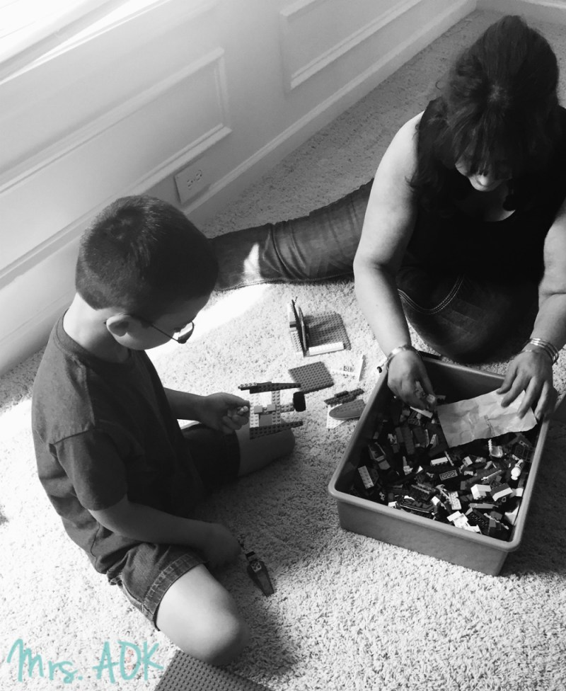 Lego building with Mom
