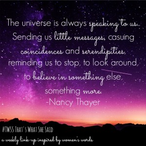 Nancy Thayer Quote| That's What She Said Link-up| Women's Words| Quotes by women