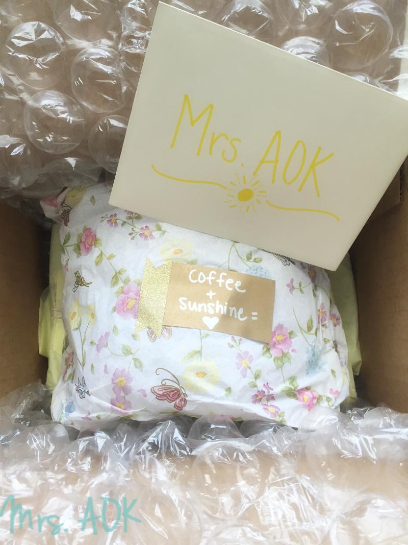 #SunshineBoxSwap Package Reveal | Blog Swap| Mrs. AOK A Work In Progress