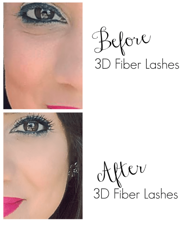 Before and After 3d fiber lashes