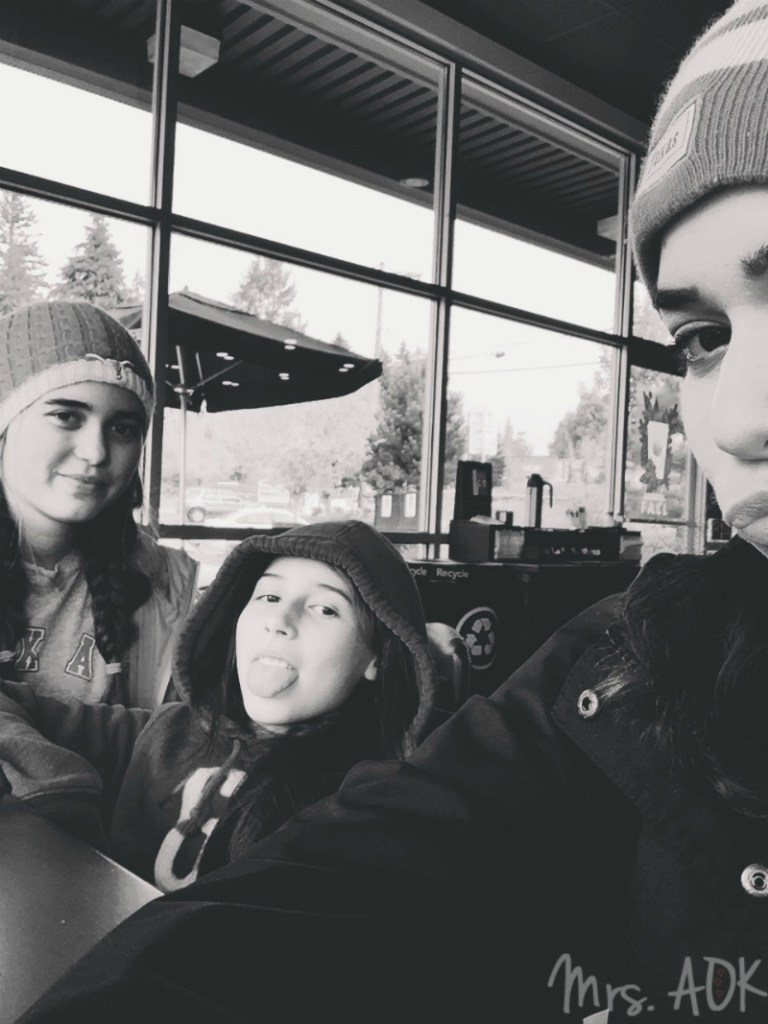 Me and my girlies at Starbucks Mrs. AOK, A Work In Progress