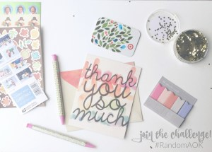 RandomAOK Challenge  Spread Kindness  Kindness Giveaway  Mrs. AOK, A Work In Progress