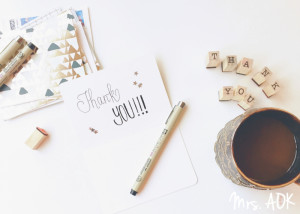 Thank You Notes| Friday the 13th| World Kindness Day| Mrs. AOK, A Work In Progress