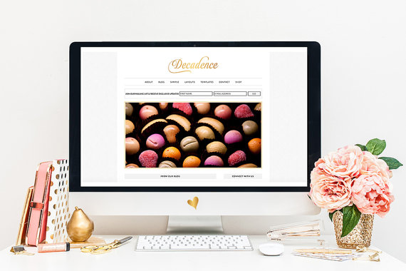 Gift Guide for Bloggers| Decadence Premade Blog Template by Sweet Face Studio