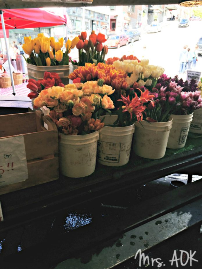 Flowers at Pike Place Seattle WA