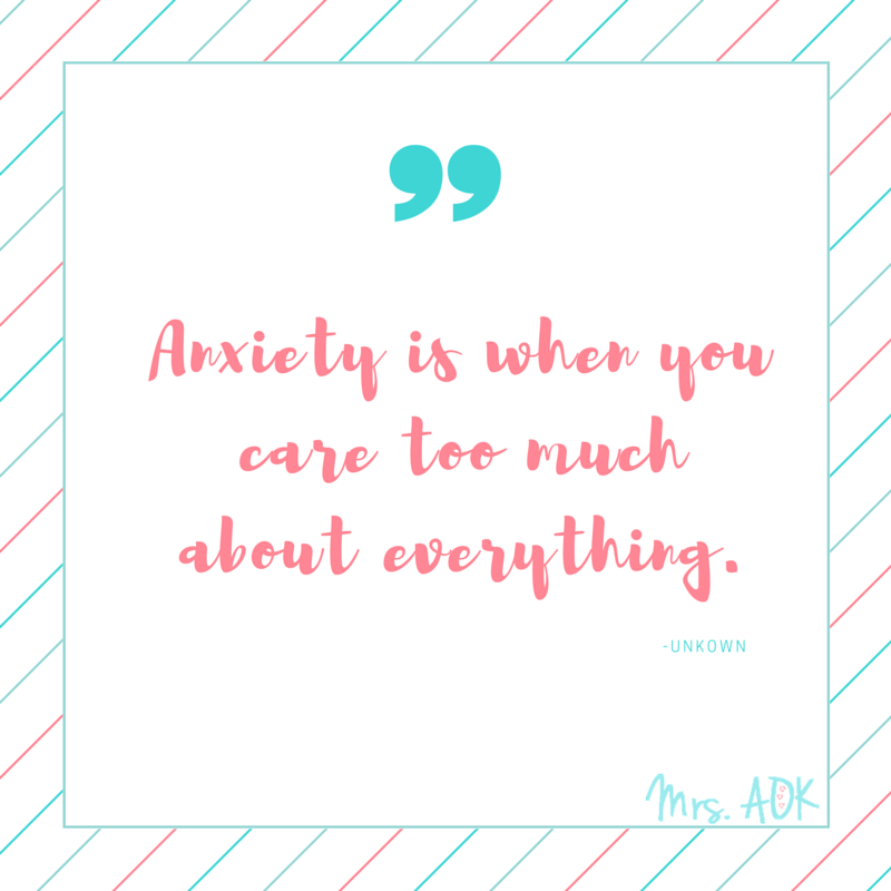 You care too much| Anxiety is when you care too much about everything.
