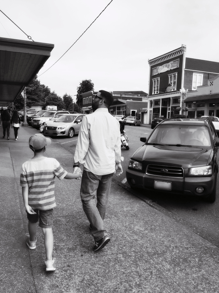 My boys downtown Snohomish