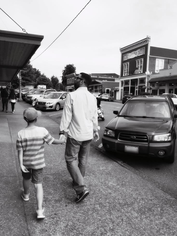 My boys downtown Snohomish