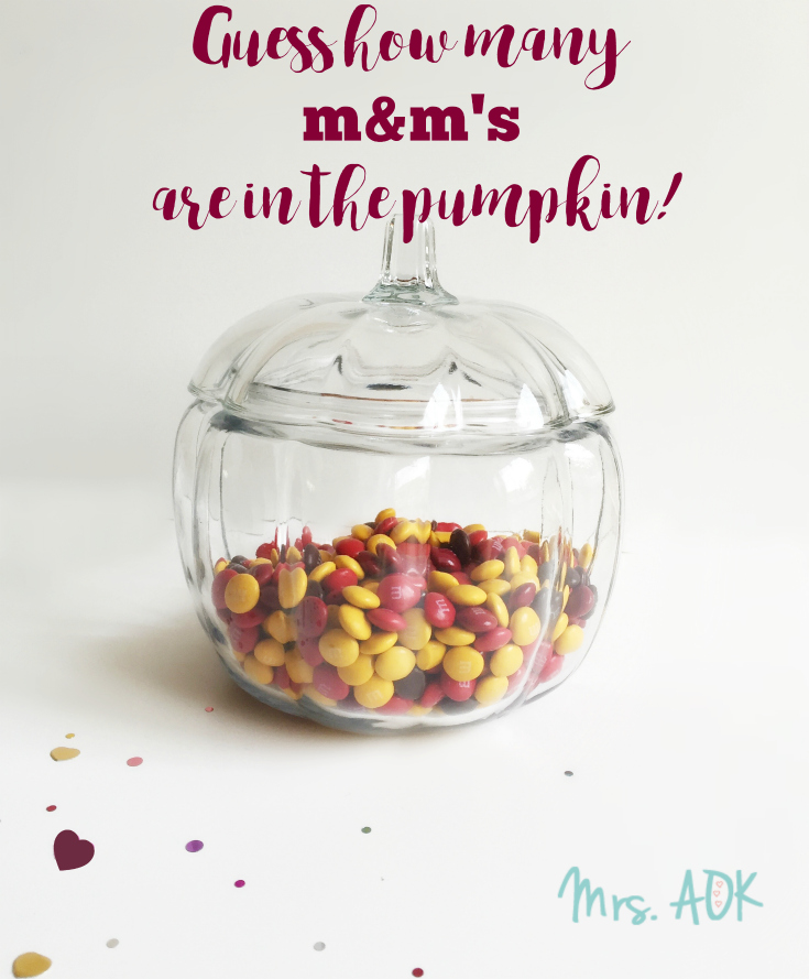Guess how many M&M's are in the pumpkin!